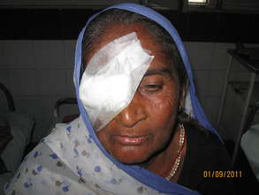 Grateful to donors for the gift of sight
