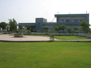 View of hospital with beautiful lawn in the front