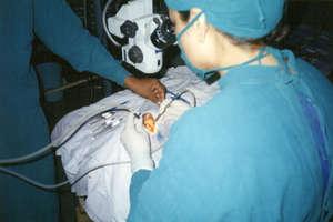 Surgery in Progress at Eye Hospital