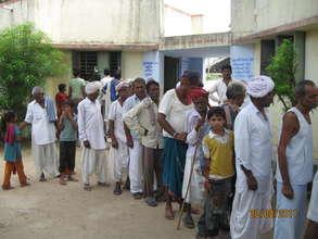 Outreach Camp - a regular feature of eye hospital