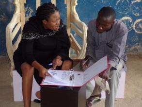 Usman using the financial tracker