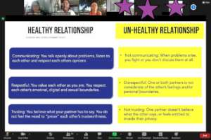 Educating youth on healthy relationships