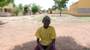 Yacouba one of the 5 refugees student