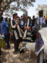 Ina & Esu gifted traditional cloth and a goat