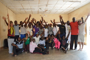 The Social Art Troupe during training last week.