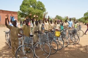 Bikes for students who had to walk miles each day