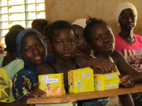 Our MHM project distributed sanitary pads to girls