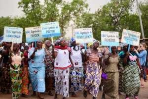 Women marching at the Water Fair's Walk for Water
