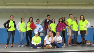 Student organizers from Bapst HS led the event.