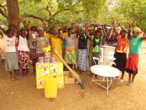 Gifts on MHM Day for BARKA's new partner school