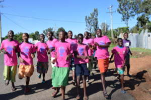 Girl Champions marching against FGM