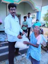 BASS Covid Relief to aged woman at unnava