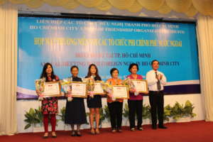AIP Foundation is honored in Ho Chi Minh City.