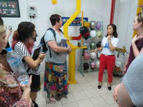 Australian students tour the Protec factory.