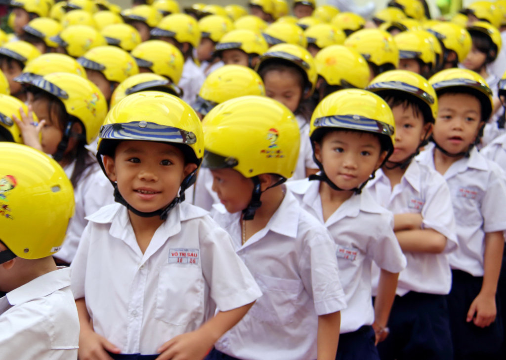 Give a Vietnamese child a helmet; save a life