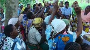 Women in Kilifi,singing to express their joy