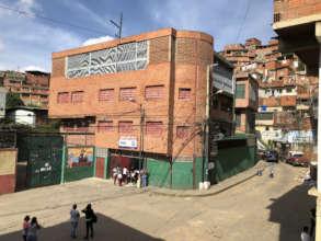 The school is in Petare: one of biggest slum LATAM
