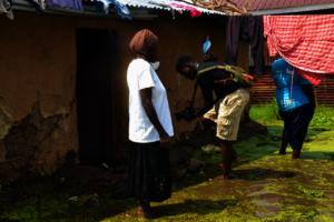 Flooded Kapuothe area in Nyalenda slums