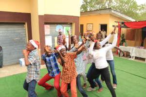 children celebrating 2019 Christmas
