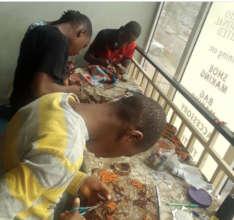 Children in craft training