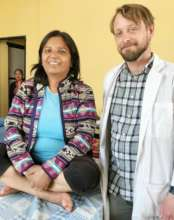 Derek with Clinic Patients