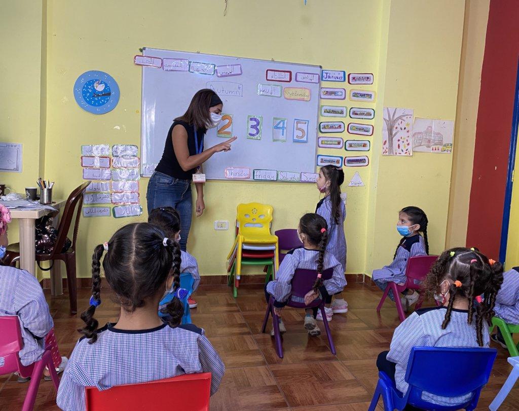 Online learning for 100 Syrian children in Lebanon