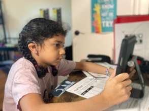Distance Learning Elementary Student