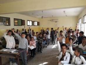 Crowded Boys' Classroom