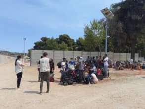 Supporting evacuated Malakasa Camp residents