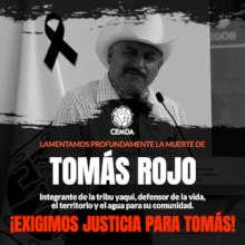 Tomas Rojo, member of the yaqui indigenous people