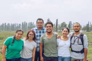 Volunteers, locals and visitors working together.