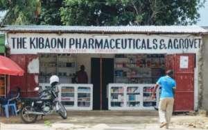 An agrovet: a veterinary drug supplier in Kenya