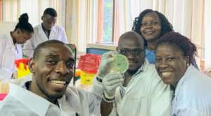 Team displaying successful phage isolation