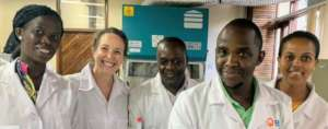 Enthusiastic scientists in the lab (Tanzania 2020)