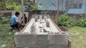 Building wash area at school