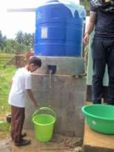 Water tanks provide clean water to the community