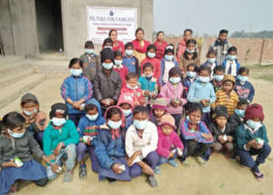 Photo 6 Students with masks and dettol soap.
