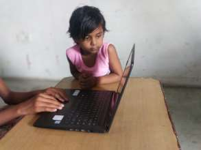 A girl hoping to continue her online classes