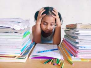Worried child due no digital help in studies