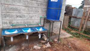 newly constructed washing hand area.