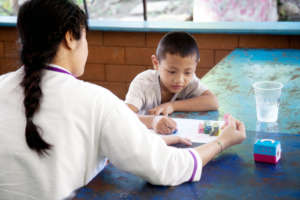 Our older students tutor the younger ones