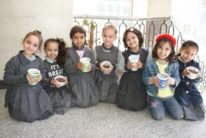 Kids are happy after the environmental activity