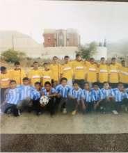 Children in football match