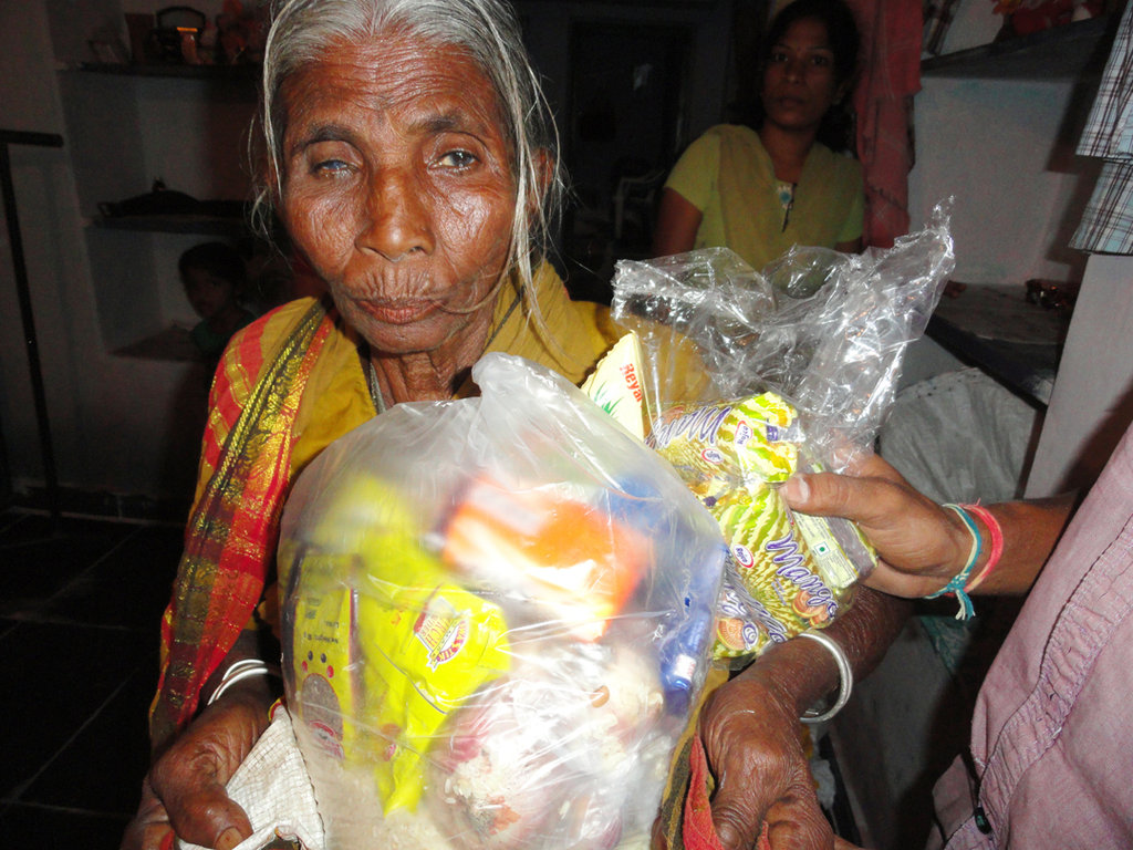 Donate Groceries for Neglected Poor Elderly People