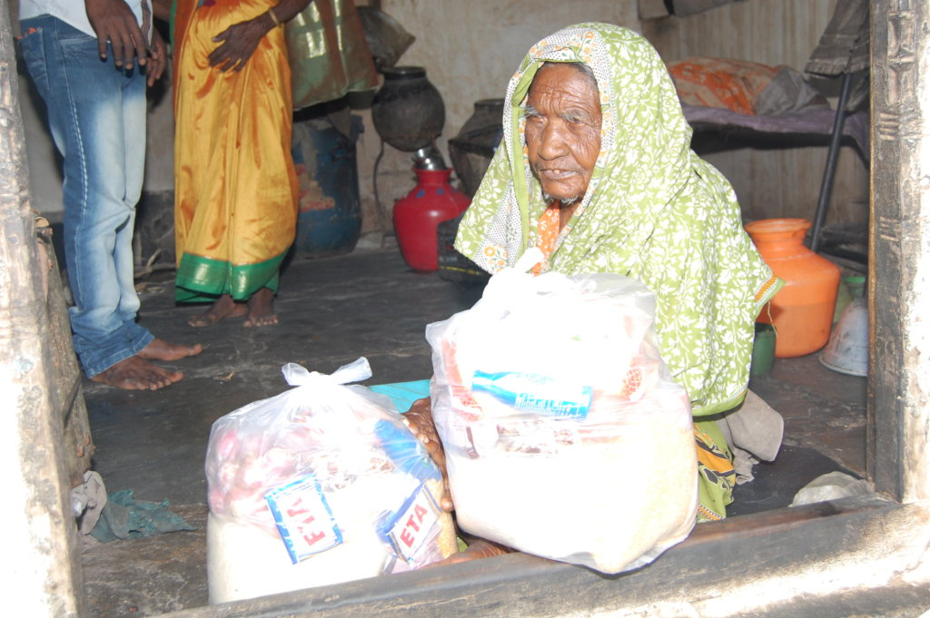 Sponsor Groceries to Poor Old Age Persons for Year