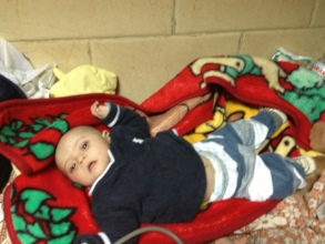 Mohamed 6 M old  had a hole in his heart closed