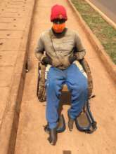 Gift of a wheelchair to persons with disabilities.