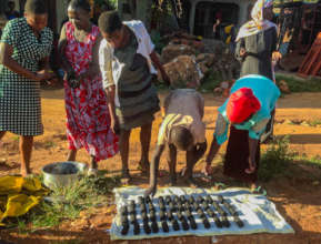 Intergenerational Briquette-Making