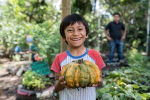 A big smile at harvest time