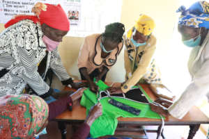Making reusable sanitary pads from old t-shirts